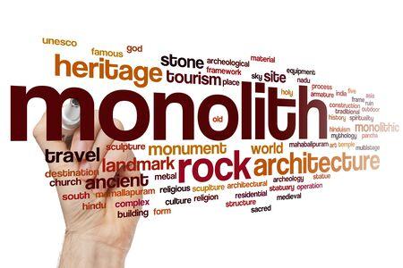 Monolith word cloud concept