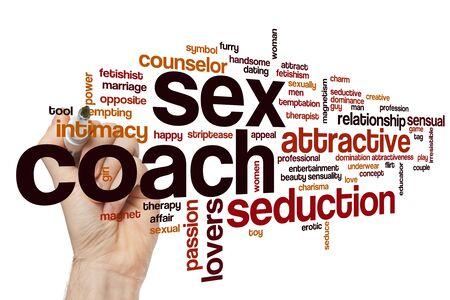 Sex coach word cloud concept