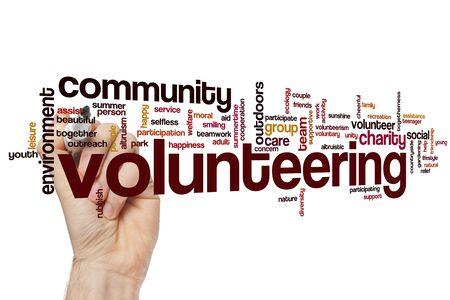 Volontariat mot concept cloud
