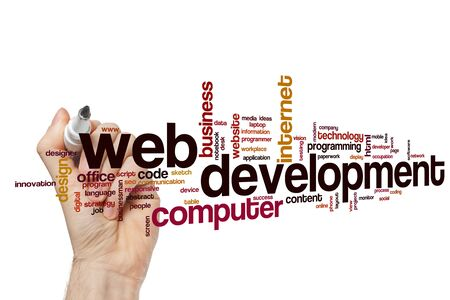 Web development word cloud concept