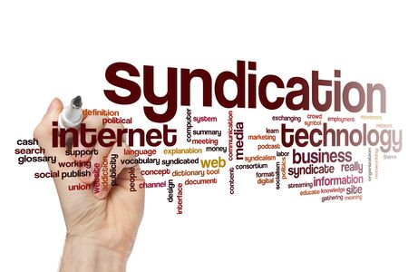 Syndication word cloud concept