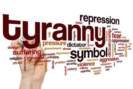 Tyranny word cloud concept Stockfoto