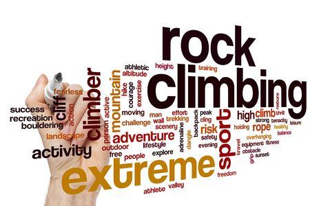 Rock climbing word cloud concept