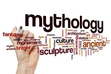 Mythology word cloud concept Banque d'images - 129452556