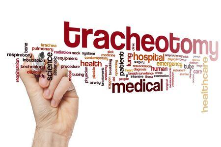 Tracheotomy word cloud concept