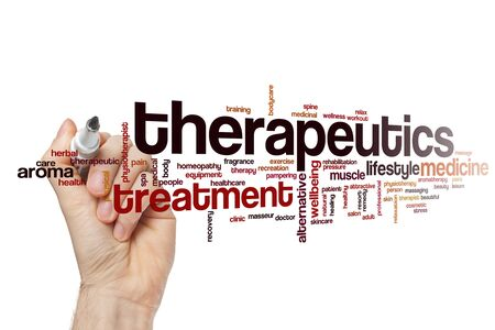 Therapeutics word cloud concept