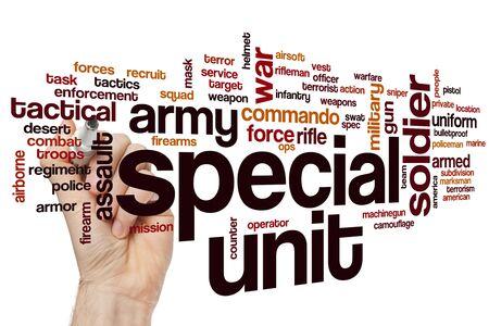 Special unit word cloud concept