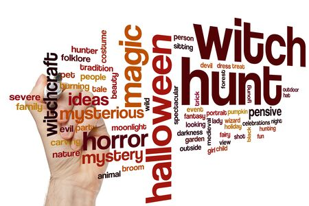 Witch hunt word cloud concept 写真素材