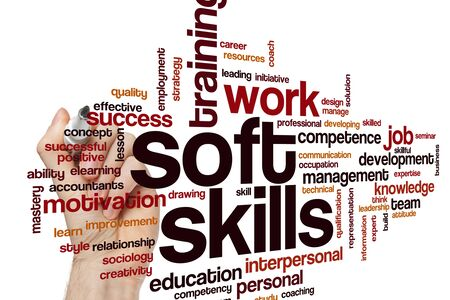 Soft skills word cloud concept