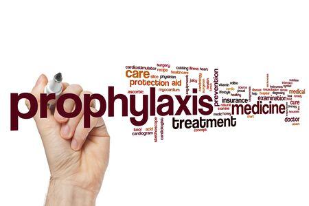 Prophylaxis word cloud concept