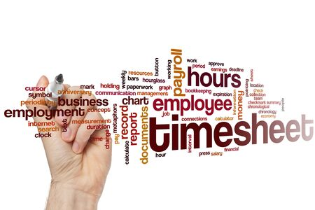 Timesheet word cloud concept 스톡 콘텐츠