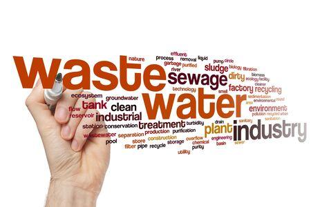 Concepto de nube de word de aguas residuales