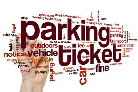 Parking ticket word cloud concept 版權商用圖片
