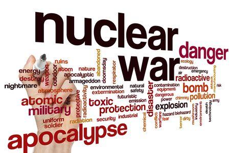 Nuclear war word cloud concept