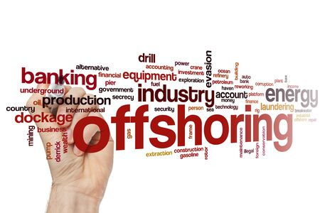 Offshoring word cloud concept