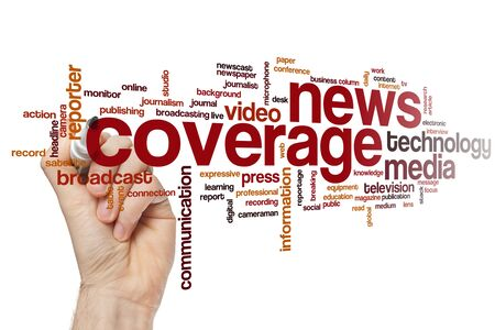 News coverage word cloud concept
