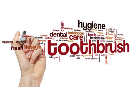 Toothbrush word cloud concept