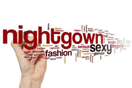 Nightgown word cloud concept Banco de Imagens