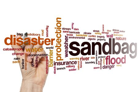 Sandbag word cloud concept