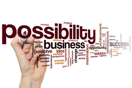 Possibility word cloud concept