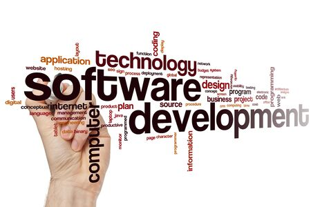 Software development word cloud concept