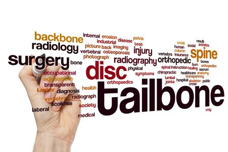 Tailbone word cloud concept Imagens