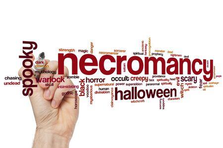 Necromancy word cloud concept