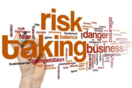 Risk taking word cloud concept 스톡 콘텐츠 - 129453184