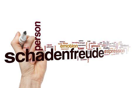 Concepto de nube de word de Schadenfreude Foto de archivo