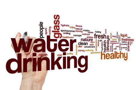 Drinking water word cloud concept Standard-Bild - 129453434