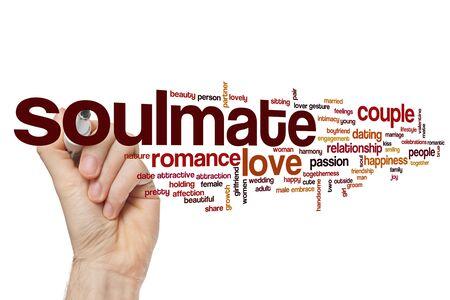 Soulmate word cloud concept