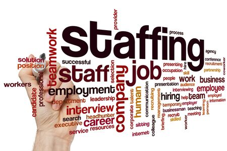 Staffing word cloud concept 免版税图像