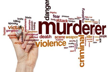 Murderer word cloud concept Фото со стока