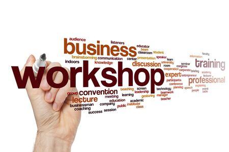 Workshop word cloud concept Фото со стока