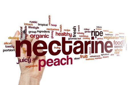 Nectarine word cloud concept Фото со стока