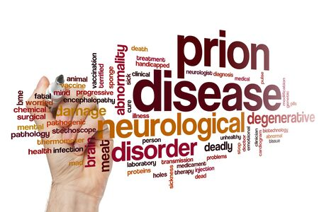 Prion disease word cloud concept