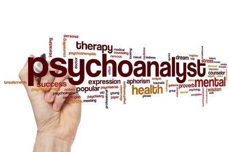 Psychoanalyst word cloud concept Banque d'images - 129453640