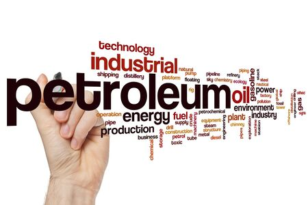 Petroleum word cloud concept Banque d'images - 129453642