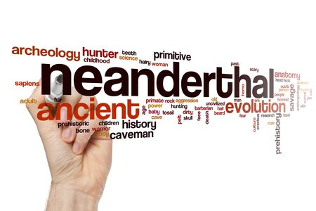 Neanderthal word cloud concept 写真素材