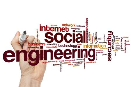 Social engineering word cloud concept Banque d'images - 129453638