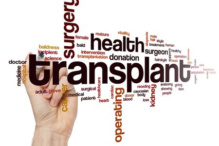 Transplant word cloud concept