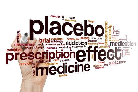 Placebo effect word cloud concept Banque d'images - 129453682