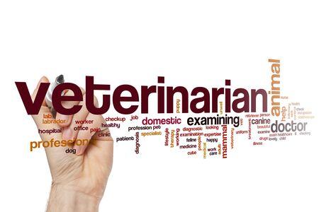 Veterinarian word cloud concept Фото со стока