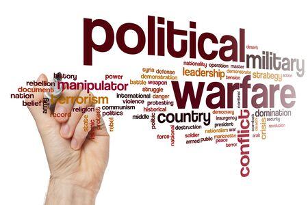 Political warfare word cloud concept