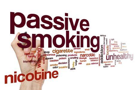 Passive smoking word cloud concept