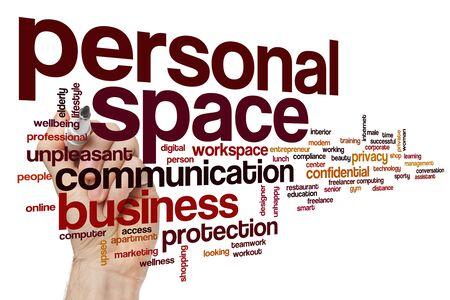Personal space word cloud concept Фото со стока