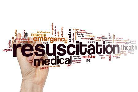 Resuscitation word cloud concept Banque d'images - 129453691