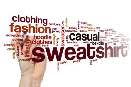 Sweatshirt word cloud concept