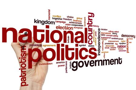 National politics word cloud concept Banque d'images - 129453709