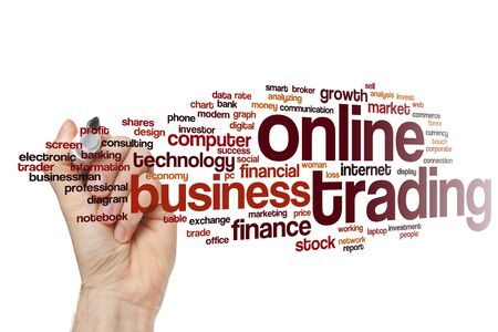 Online trading word cloud concept
